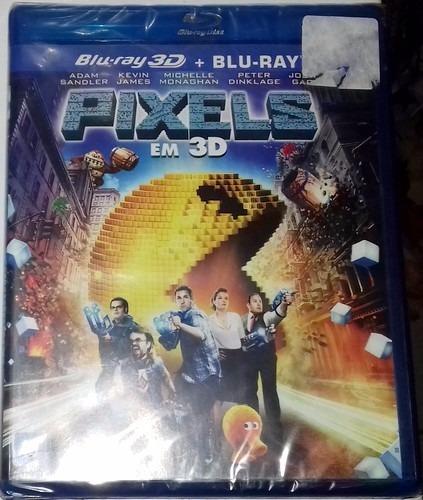 Blu-ray 3d + 2d Pixels - O Filme (2 Discos) - Lacrado