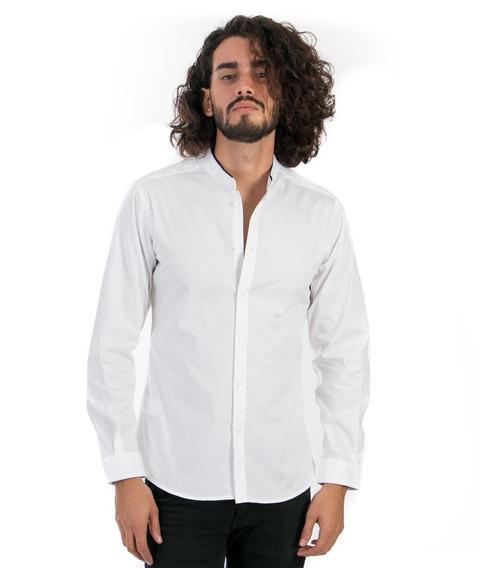 Camisa Slimfit Precio De Fabrica Cuello Mao Corte Pegado