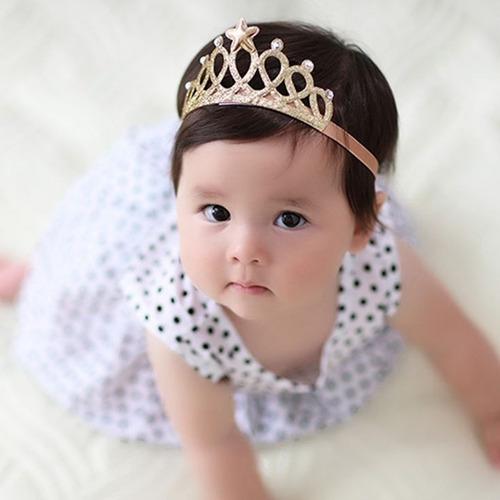 Vinchas Corona Para Bebé 1 Año Tiara Princesa Niña