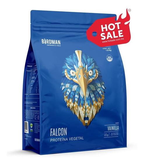 Proteína Vegetal Falcon 1.8kg Sabor Vainilla (60 Servicios)