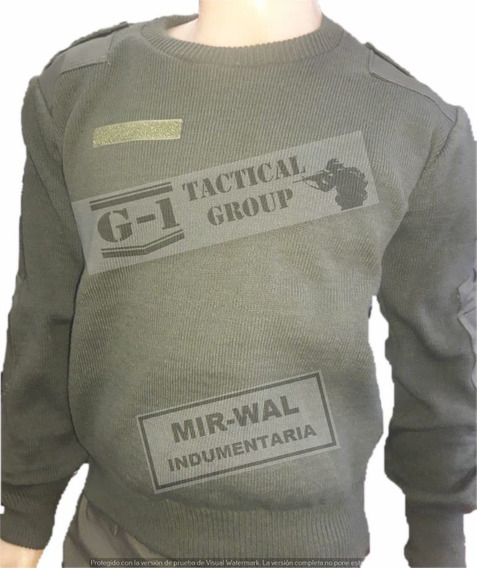 Tricota Termica Verde Militar Gendarmeria / Ejercito