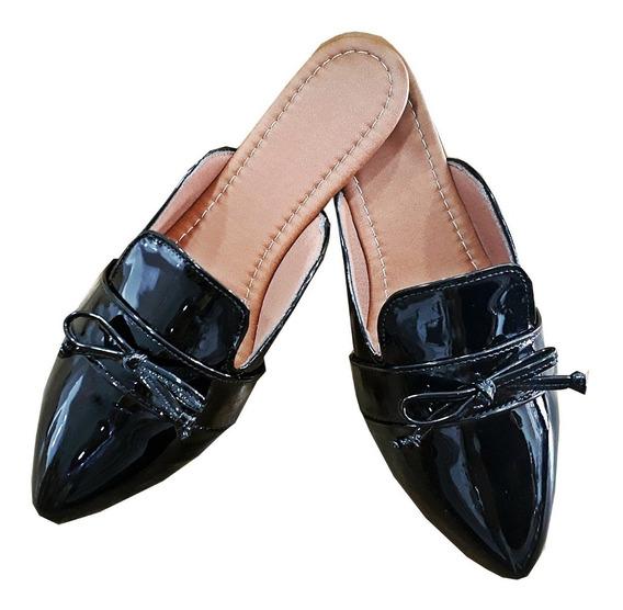 Mule Feminino Lacinho Sapatilha Sapato Laço Feminina Rasteirinha