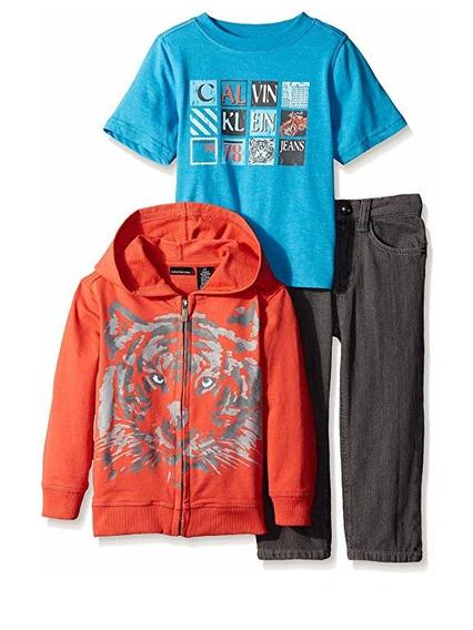 Calvin Klein 3 Piezas Para Niño O $480