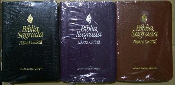 Bíblia Com Harpa Cristã Média Kit 3 Bíblias Várias Cores