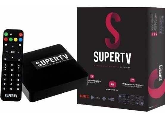 Smart Tv Super Box Black Android 4k