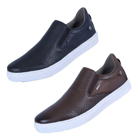 Kit 2 Pares Tênis Slip On Iate Casual Black Friday Verão