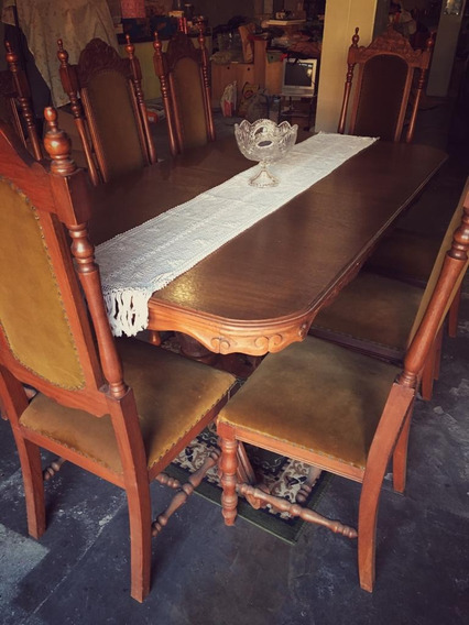 Mesa De Jantar - Cerejeira Com 8 Cadeiras