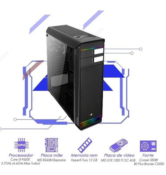 Computador I5 9600k+gtx 1050 Ti Oc 4gb Msi+12gb Ram