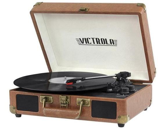 Toca Discos Maleta Victrola Vsc-550bt-brw Castanho - 6w Rms