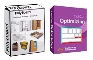 Polyboard 6.05f Pro + Opticut 5.24h Pro 2018. Diseño Muebles