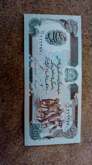 Nota Cédula De 500 Afeghanis Afeganistão