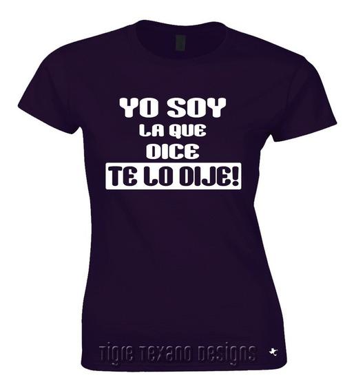 Playera Reunión Amigas Te Lo Dije By Tigre Texano Designs
