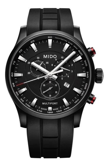 Reloj Mido Multifort M0054173705120 Chrono Silicona Negro