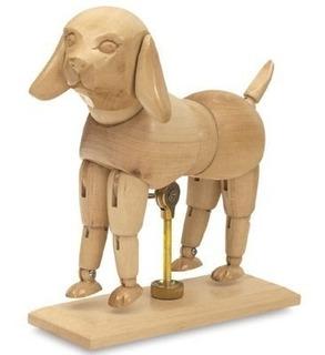 Kit Manequim Animais Articulados - Cachorro & Cavalo 15cm