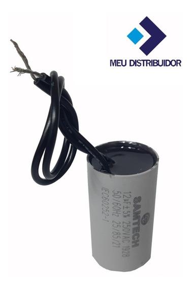 Capacitor Partida 12uf/250v/2 Fios, Motor Portão Eletrônico