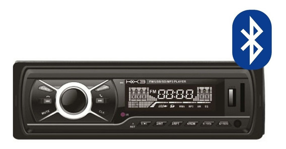 Radio Automotivo Com Bluetooth Kx3 Krc1000 Usb Mp3 Sd Player