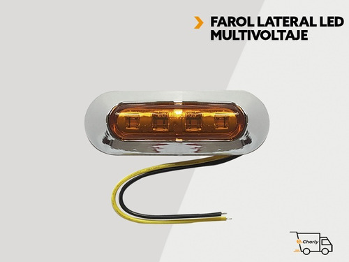 Farol Lateral Camion Led 12/24 V Ambar