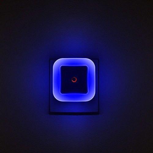 Elsent [paquete De 4] Se Enchufa En Una Luz Nocturna Azul Br
