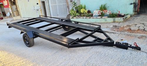 Imagem 1 de 8 de Carretinha Plataforma Transporte De Veiculos