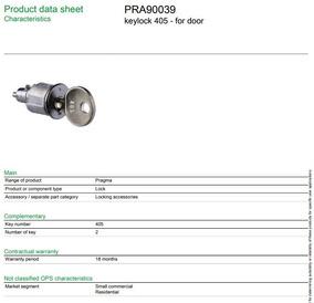 Fechadura Com Chave 405 - Para Porta - Schineider