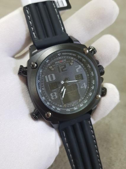 Relogio Weide Wh5208 Preto Cronografo Militar Esportivo