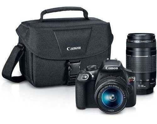 Câmera Dslr Canon Eos Rebel T6 Kit Lentes 18-55mm E 75-300mm