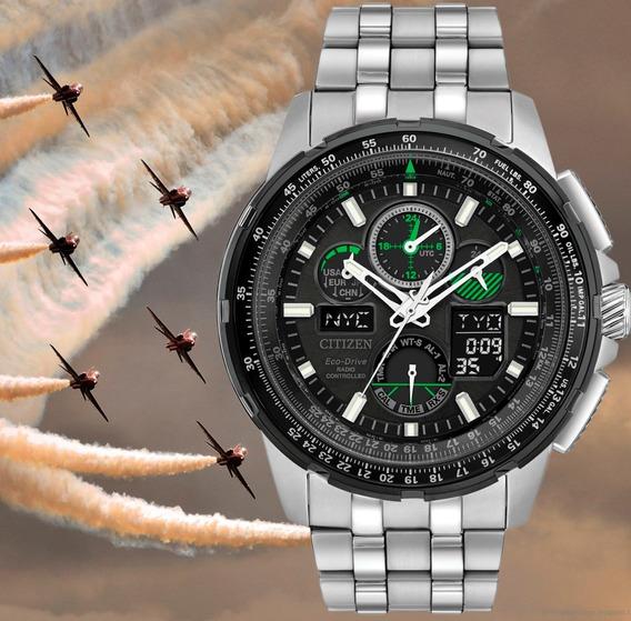 Citizen Eco-drive Skyhawk A-t Jy8051-59e Cronógrafo 200m