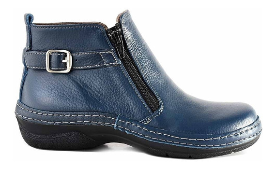 Botineta Mujer Bota Cuero Briganti Zapato Confort Mcbo24586