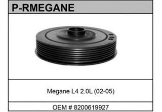 Polea De Cigueñal (damper) Renault Megane 03-10 2.0 Lts