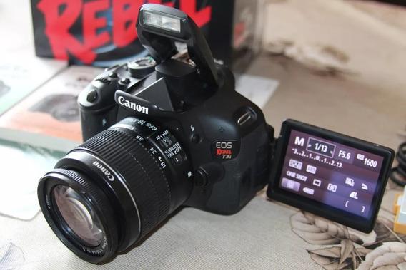 Canon T3i (600d) + Lente 18-55 + Bolsa