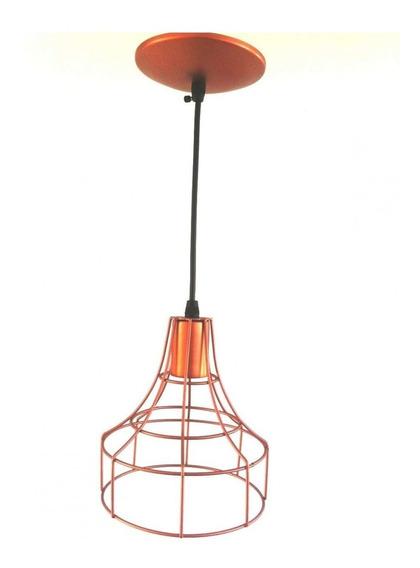 Pendente Aço Aramado Lanterna Grande Isadora Design Fh