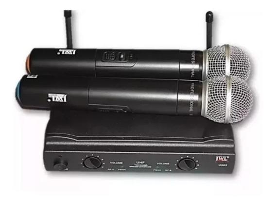 Microfone Sem Fio Jwl U-585 Duplo + Maleta Nota Fiscal Garantia.
