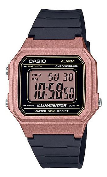 Relógio Casio Feminino Rose Quadrado Digital Resina + Nf