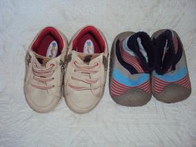 Sapatos De Bebe Marrom E Sapato Meia Tamanhos 19