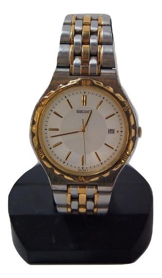 Relógio Vintage Masculino Seiko Prateado.