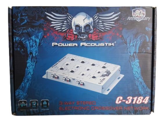 Crossover Eletrônico 3 Vias Power Acoustik C-3184 6 In 6 Out
