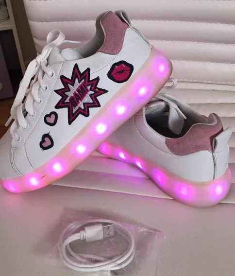 Zapatillas Con Luces Footy Nro 34