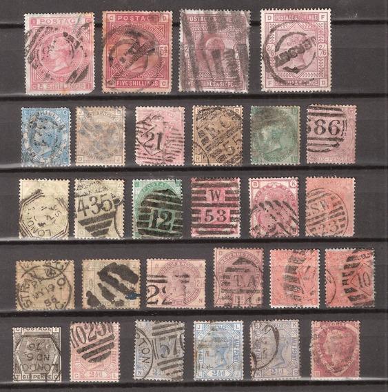 Inglaterra Lote De 28 Selos Antigos E Raros .