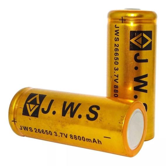 Bateria 26650 3,7v 8800mah Original Jws Lanterna Holofote