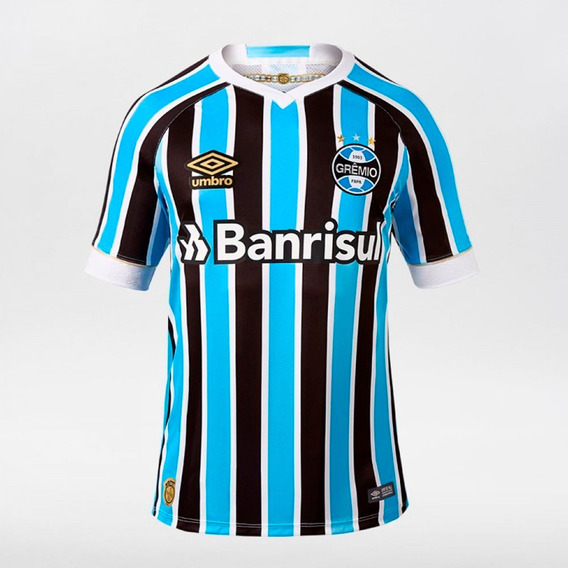 Camiseta Gremio Umbro 2020 Parches Libertadores