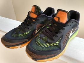 Tenis Nike Airmax 2014 Preto Laranja Verde Tam 41/42
