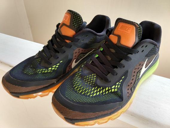 Tenis Nike Airmax Preto Laranja Verde Tam 41/42
