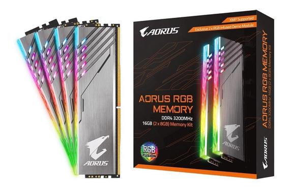 Memoria Gigabyte 16gb Ddr4 3200mhz 2x8 Aorus Rgb Fusion Kit