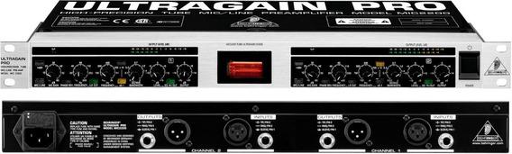 Pre Amplificador Behringer Ultragain Pro Mic 2200