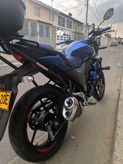Suzuki Gixxer 150 Color Azul Moto Gp