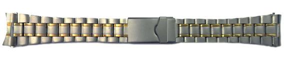 Pulseira Para Relógio De Aço Inox Mista 24mm Kit Com 10