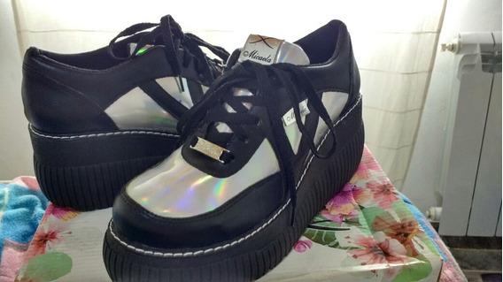 Zapatos Altos Holograficos