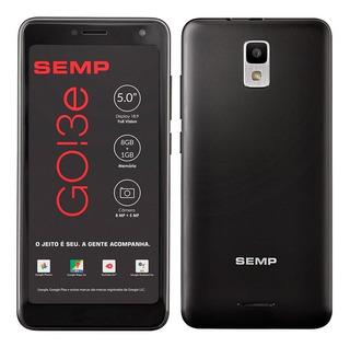 Smartphone Semp Go! 3e, Preto, Tela 5 , 3g+wi-fi, Android