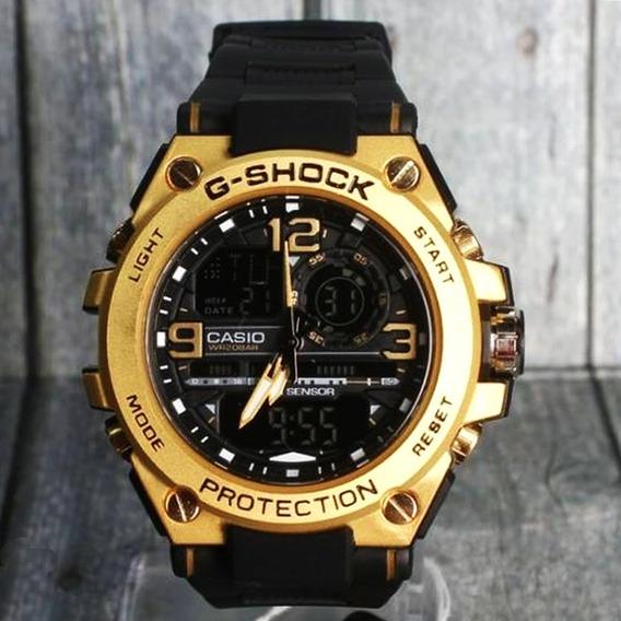 Relogio Casio Gshock Gst8600, Gold, Frete Grátis