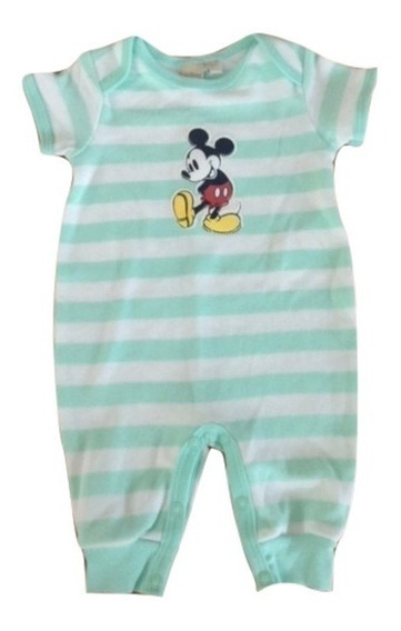 Jumpsuit Nuevo Disney Mickey Mouse Talla 0 A 3 Meses